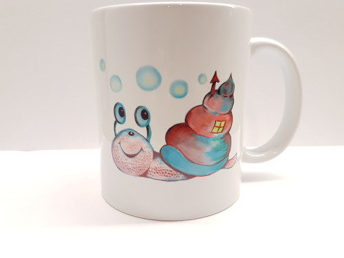 Porcelán bögre - Csiga